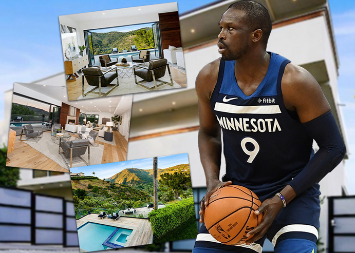 Luol Deng and his Brentwood home (Credit: Getty Images, Realtor)