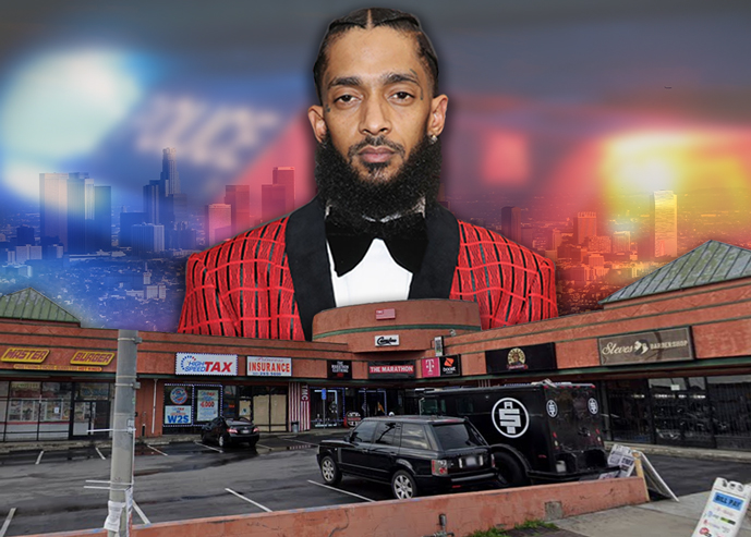 Nipsey Hussle and his property at 3420 West Slauson Avenue (Credit: Getty Images, Google Maps, Wikipedia, Pixabay)