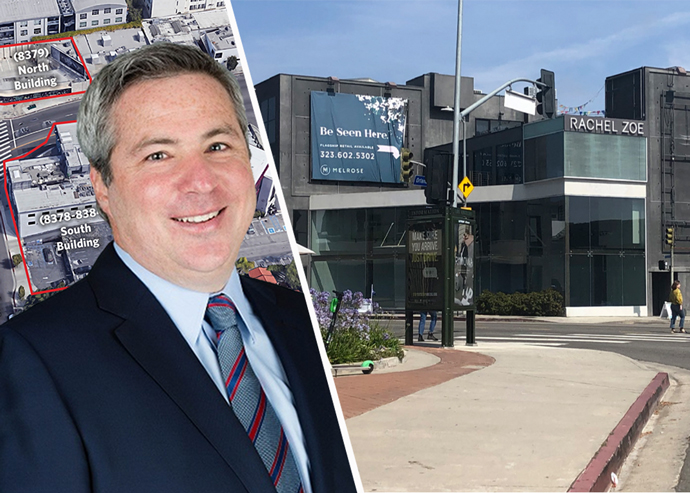 Sterling Organization CEO Brian Kosoy and the two Melrose Avenue properties