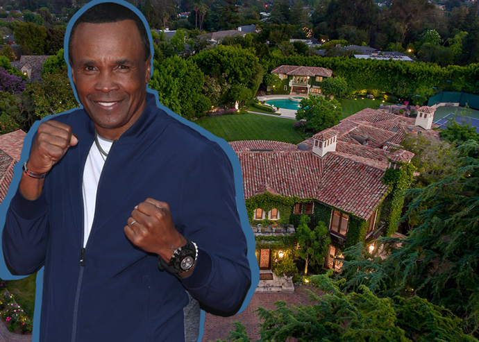 Sugar Ray Leonard and the Pacific Palisades home (Credit: Getty Images)