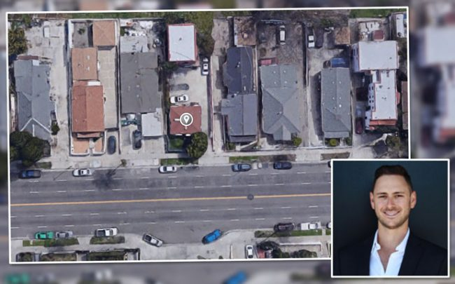 Urban Stearns' Lee Rubinoff and an aerial shot of the property (Credit: Google Maps)