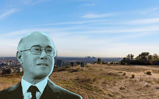 David Geffen and the view from his new Beverly Hills development property