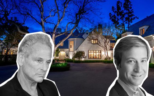 Lindsey Buckingham, Michael Gross, and the home on Saltair Avenue (Credit: Getty Images and Zillow)