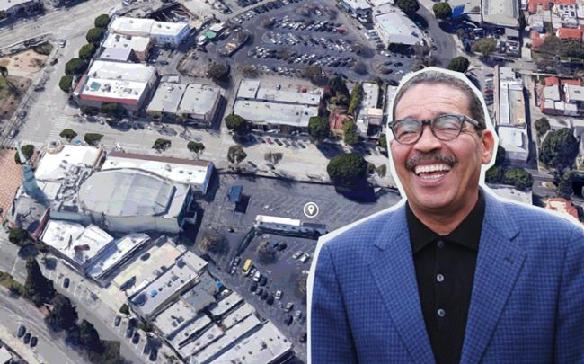 City Council President Herb Wesson and an aerial view of Leimert Park