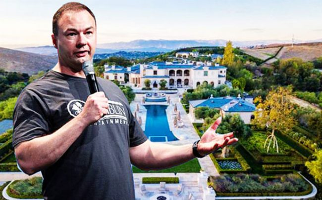 Thomas Tull and his 33-acre compound (Credit: RedFin, Wikimedia Commons)