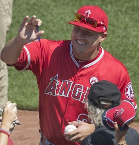 Mike Trout (credit: Keith Allison)