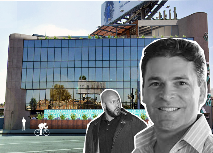 The building with Cross Campus founder Ronen Olshansky and Suge Knight