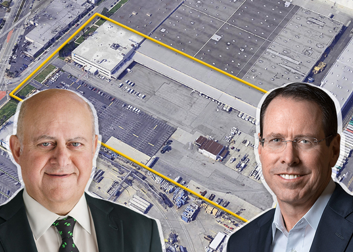 From left: Prologis CEO Hamid Moghadam, and Randall L. Stephenson, chairman and CEO of AT&T Inc, with the site