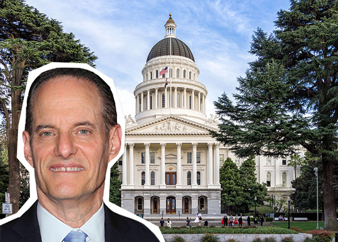 AIDS Healthcare Foundation's Michael Weinstein and the California State Capitol building