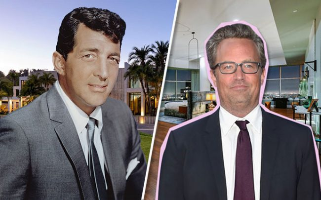 From left: Dean Martin and Matthew Perry (Credit: Hilton & Hyland, Getty Images)