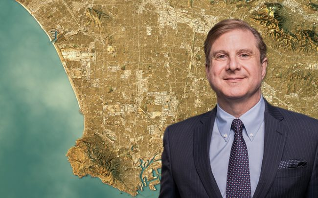 Ron Galperin and an overview of LA (Credit: iStock)