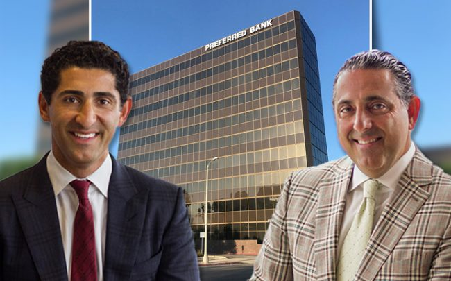 Optimus Properties, LLC cofounders Kamyar Shabani and K. Joseph Shabani and the building