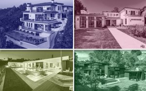 Clockwise from top left: 1469 Bel Air Road, 141 South Cliffwood Avenue, 921 Rivas Canyon Road and 521 Chalette Drive (Credit: TheMLS.com)