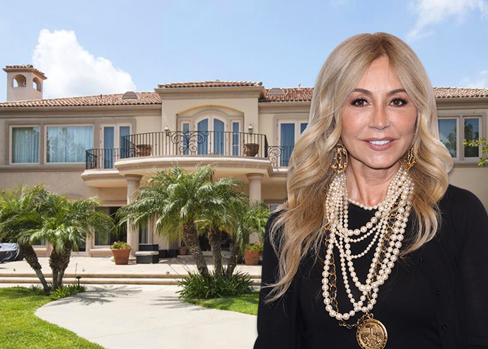 Anastasia Soare and the mansion (Credit: Getty Images and Realtor)