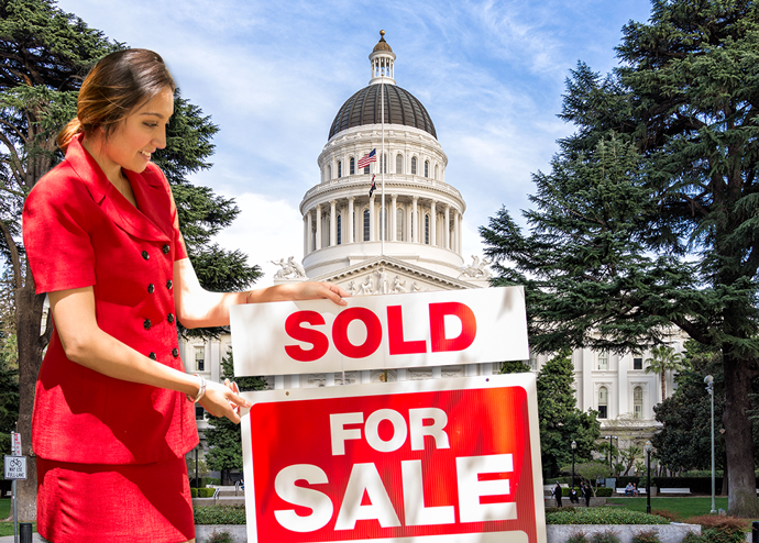 Real estate agents will likely remain contractors under a proposed state bill (Credit: iStock and Wikipedia)