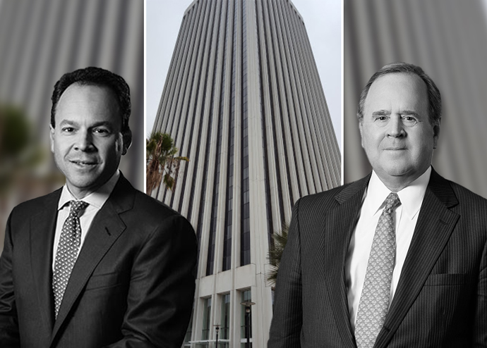 Rockpoint Group co-founders Keith Gelb and Bill Walton with 5900 Wilshire Blvd