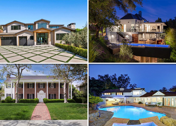 Four of the top residential listings from last week (Credit: Redfin)