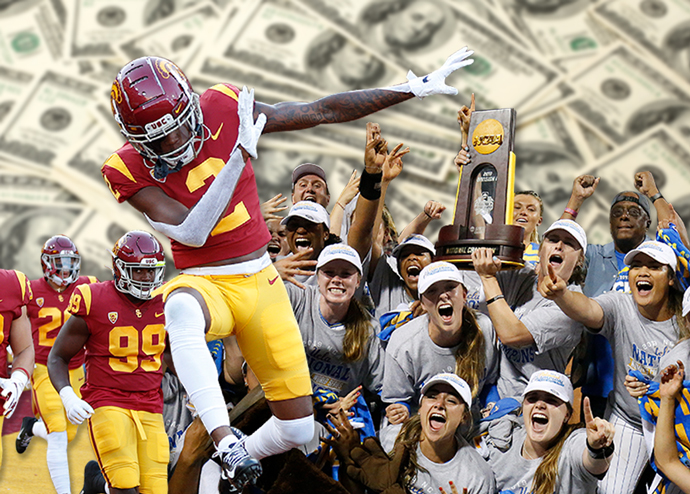 College athletes could soon be allowed to make money on endorsement deals in the state of California (Credit: Getty Images and iStock)