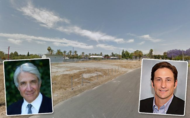 Thomas L. Safran and the firm's president, Andrew David Gross, and the project site (Credit: Google Maps)