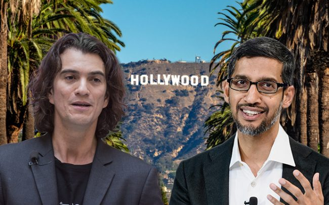 From left: Adam Neumann and Sundar Pichai (Credit: Getty Images and iStock)