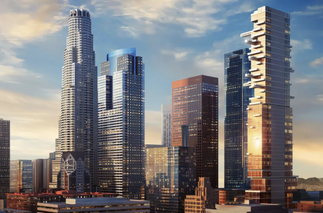 JMF's planned Downtown L.A. tower, at far right (Credit: L.A. Department of City Planning)