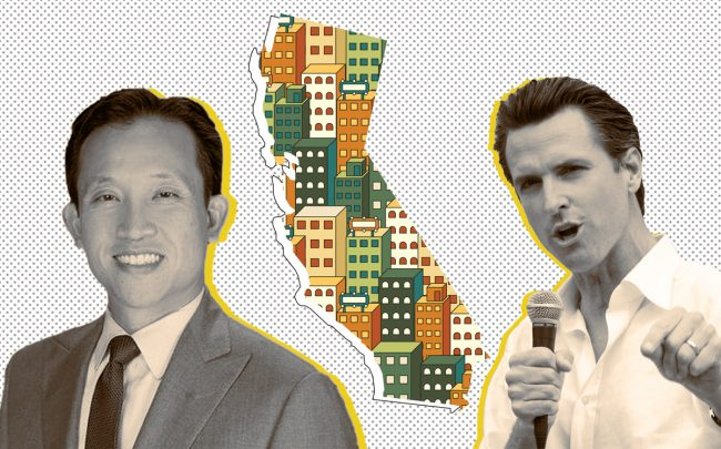 Assemblyman David Chiu and Gov. Gavin Newsom (Credit: Wikipedia and iStock)