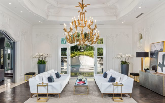 1091 Laurel Way in Beverly Hills. The home, built in 1991, sold for $30 million. (Credit: Redfin)