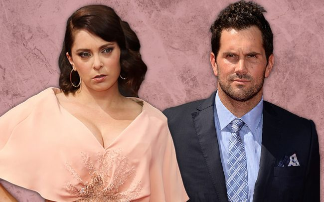 Rachel Bloom and Matt Leinart (Credit: Getty Images)