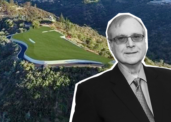 Late Microsoft cofounder Paul G. Allen and the property (Credit: Redfin and Getty Images)