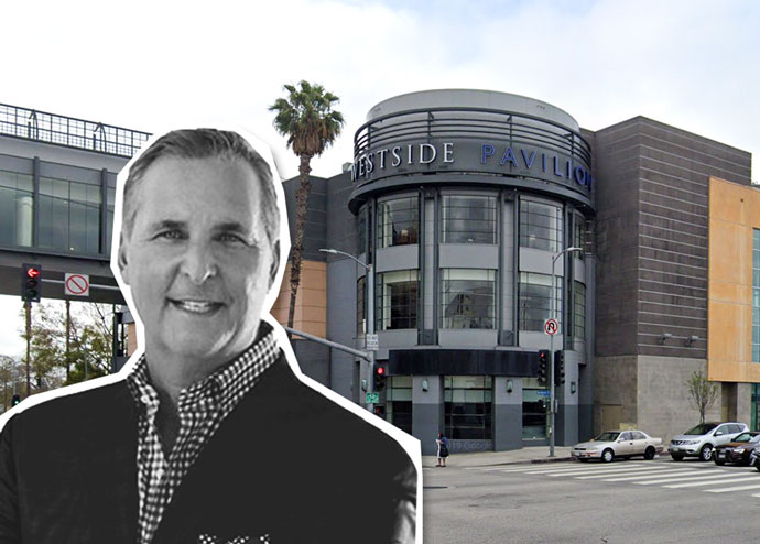 Hudson Pacific Properties CEO Victor Coleman and the Westside Pavilion (Credit: Google Maps)