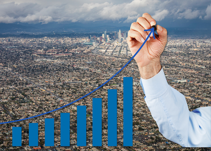 Homes in some parts of LA grew more than 60 percent over five years (Credit: iStock)