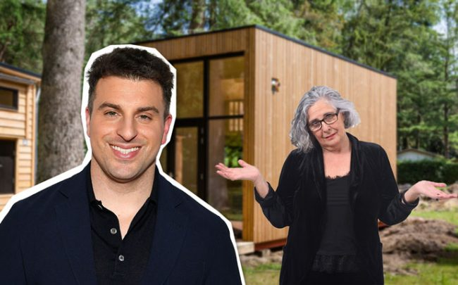 Airbnb Chief Executive Brian Chesky. A new city law would limit so-called granny flats from being posted on Airbnb. (Credit: Getty Images and iStock)