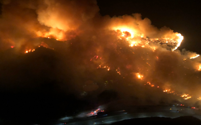 The Getty Fire (credit: Los Angeles County Fire Department Air Operations)