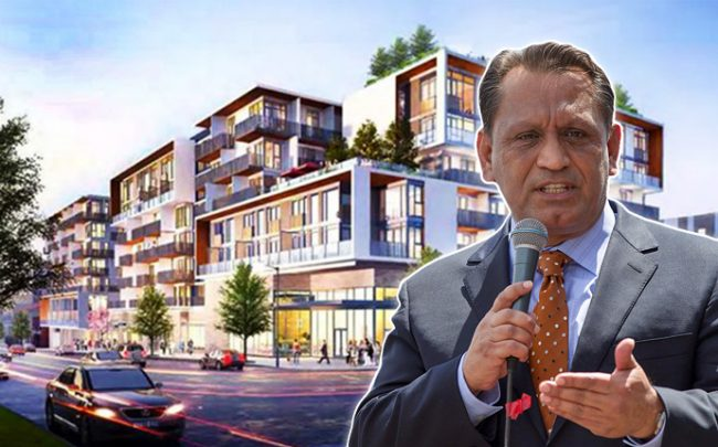 LA City Councilmember Gil Cedillo and Jade Enterprises' Sapphire development (credit: Scott L on Flickr)