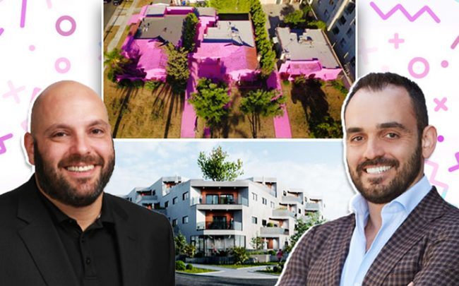 Pink House Project, rendering of Hello Saturn, Boaz Miodovsky of Ketter, and Max Sharkansky of Trion Properties