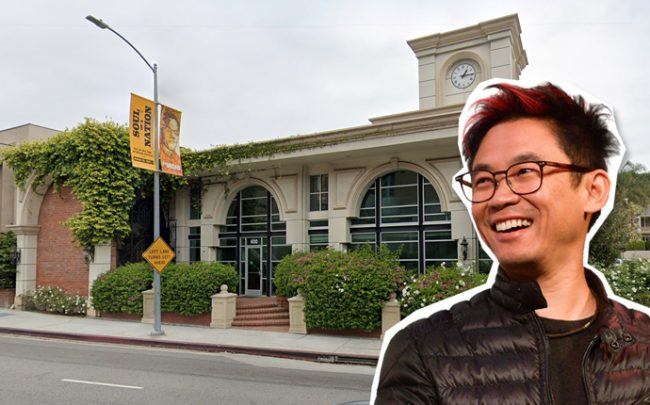James Wan and the building at 600 North Sepulveda Boulevard (Credit: Getty Images and Google Maps)
