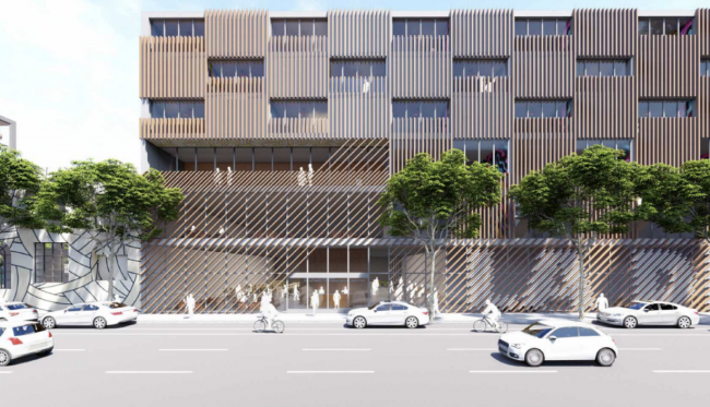 A rendering of the office to replace the DPSS office in the Arts District (Credit: OfficeUntitled)