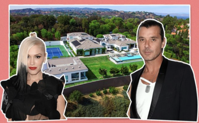 Gwen Stefani, Gavin Rossdale, and their former home in Beverly Hills Post Office