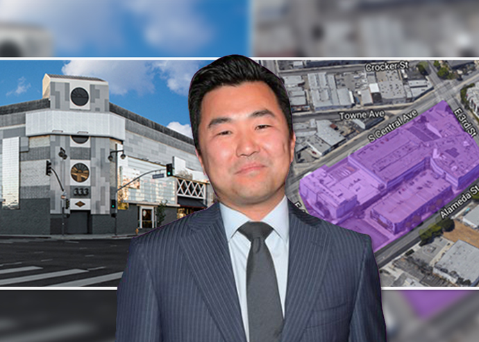 David Ryu with a Little Tokyo Galleria rendering