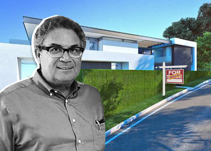 Robert Shapiro and the property at 1357 Laurel Way (Credit: Zillow)