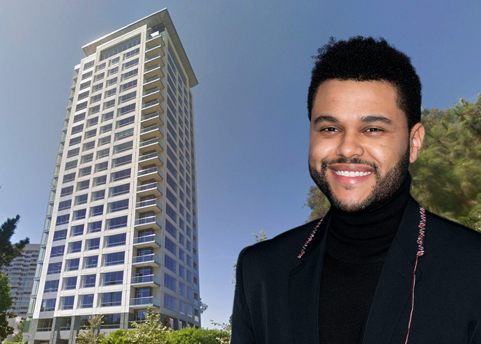 Abel Tesfaye, AKA The Weeknd, will be rocking out at a Beverly West penthouse (Credit: Google Maps and Getty Images)