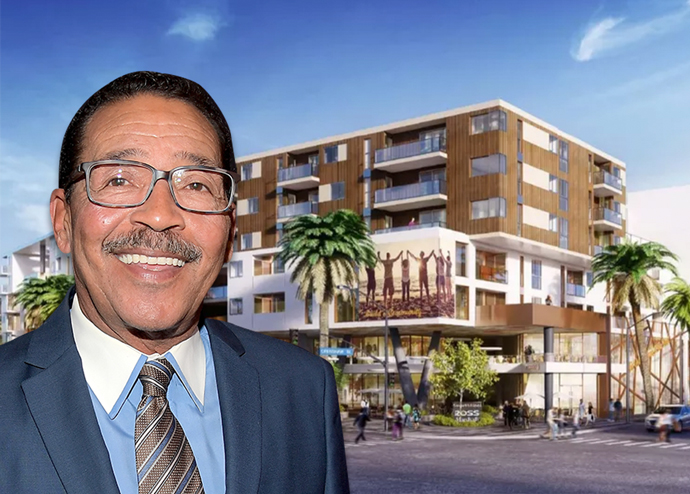 Council President Herb Wesson and a rendering of District Square
