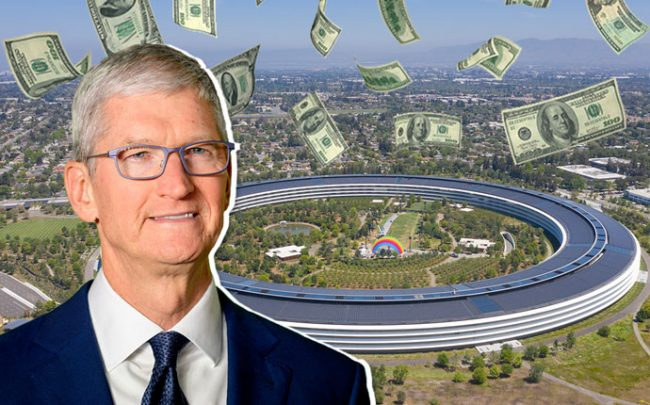 Apple CEO Tim Cook and Apple's Cupertino headquarters (Credit: Getty Images and Wikimedia)