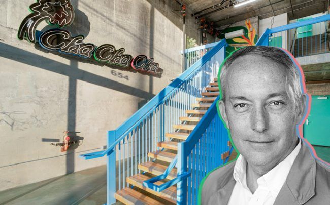 4Site Real Estate's Todd Wexman and the entryway at the Cha Cha Cha condo building