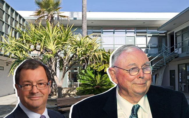 William Harold Borthwick, Charlie Munger, and the Barry Building (Credit: Adrian Scott Fine/L.A. Conservancy)