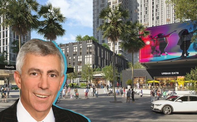Matt Khourie Chief Executive Officer of Trammell Crow and a rendering of the project