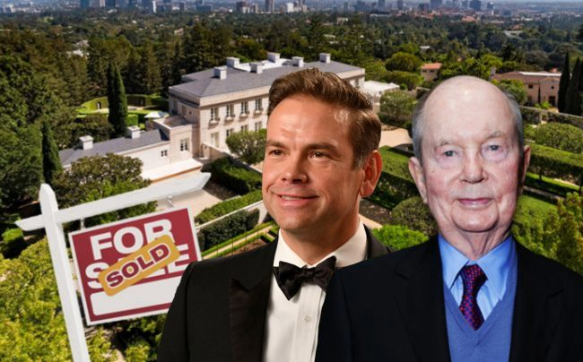 The Chartwell Estate in Bel Air, Lachlan Murdoch and Jerry Perenchio (Credit: Getty Images)