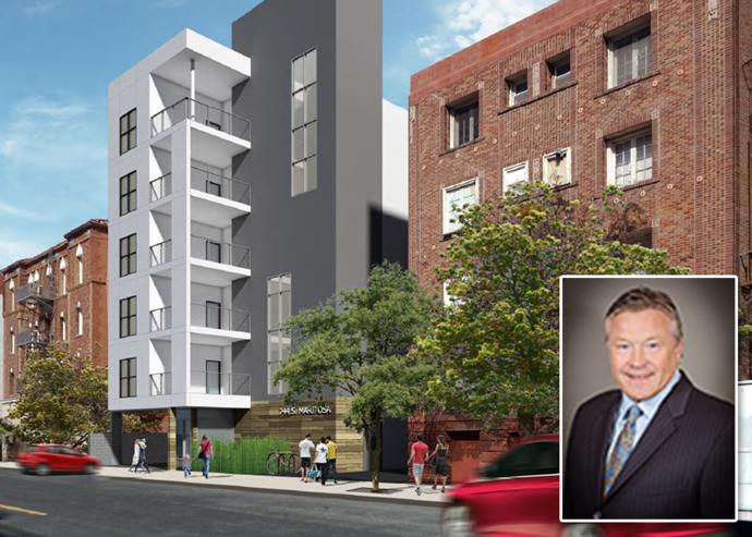 A rendering of the project and Douglas Bystry, President and CEO of Clearinghouse