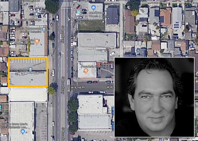 Relevant Group's Richard Heyman and the project site (Credit: Google Maps)