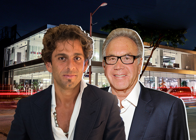 From left: Michael Shabani, James Randall, and 8840 Beverly Boulevard (Credit: Getty Images)